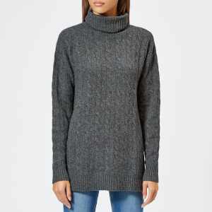 Polo Ralph Lauren Women's Wool And Cashmere Blend Roll Neck Jumper - Grey