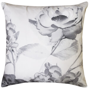 Karl Lagerfeld Senna Floral Cushion - Grey