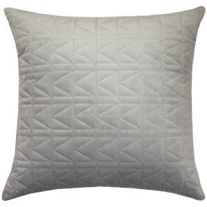Karl Lagerfeld Quilted Cushion - Dove