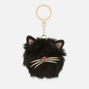 Kate Spade New York Women's Cat Pouf Keyring - Black Multi