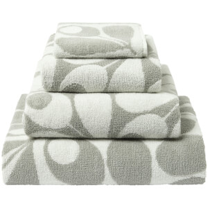 Orla Kiely Acorn Cup Towels - Light Granite (Pack of 2)