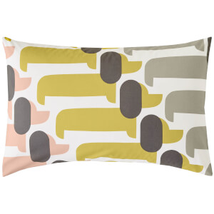 Orla Kiely Dog Show Pillowcase Pair - Yellow