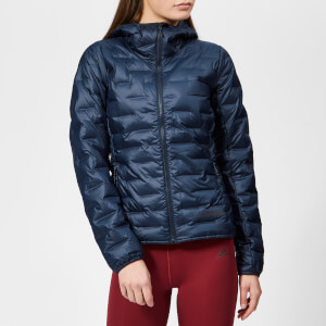 adidas Woman's Terrex Light Down Hooded Jacket - Legend Ink