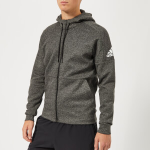 adidas Men's I.D Stadium Full Zip Hoody - Stadium Heather/Black