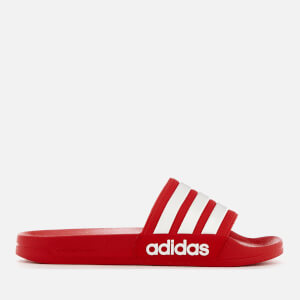 adidas Men's Adilette Shower Slide Sandals - Scarlet