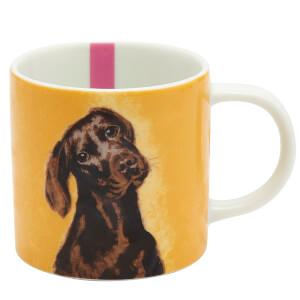 Joules Porcelain Mug - Chocolate Labrador