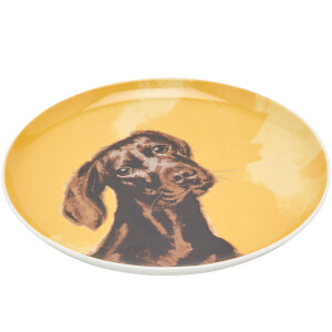 Joules Side Plate - Chocolate Labrador