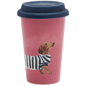 Joules Fine China Travel Mug - Daschund