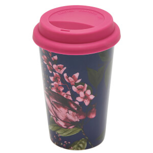 Joules Fine China Travel Mug - Artichoke Floral