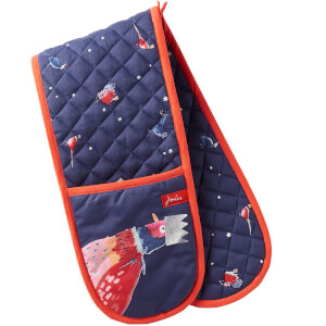 Joules Christmas Double Oven Gloves - Festive Bird