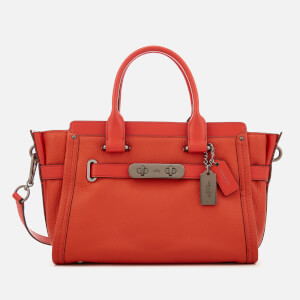 Coach Women's Swagger 27 Tote Bag - Deep Coral