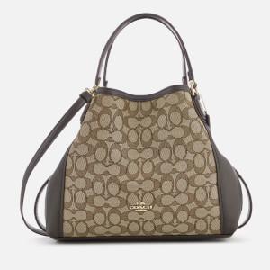 Coach Women's Edie 28 Shoulder Bag - Khaki/Brown