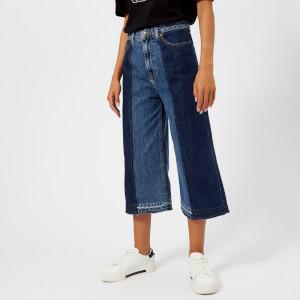 McQ Alexander McQueen Women's Denim Culottes Jeans - Vintage Wash Blue