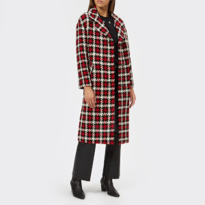 McQ Alexander McQueen Women's Casual Check Coat - Small Check