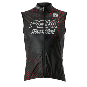 PBK Santini 19 Skin Race Gilet - Black/Red