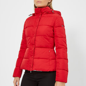 Emporio Armani Women's Short Hooded Puffa Jacket - Red
