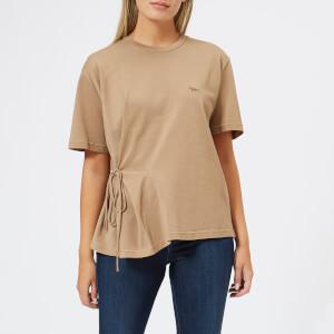Maison Kitsuné Women's Draped T-Shirt - Camel
