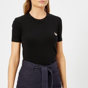 Maison Kitsuné Women's Profile Fox Patch T-Shirt - Black
