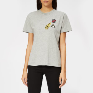 Maison Kitsuné Women's Astronaut Patch T-Shirt - Grey Melange