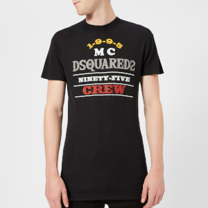 Dsquared2 Men's Brinato Wash Long Fit T-Shirt - Black