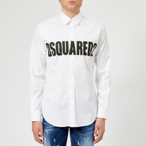 Dsquared2 Men's Stretch Poplin Logo Shirt - White