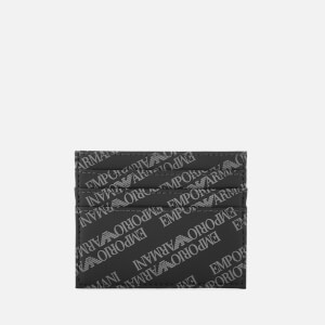 Emporio Armani Men's Credit Card Holder - Lavagna/Nero