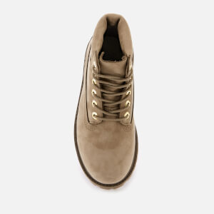 Timberland Kids' 6 Inch Premium Waterproof Leather Boots - New Greige Waterbuck: Image 3