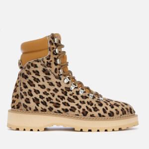 Diemme Women's Monfumo Calf Hair Lace Up Boots - Leopard