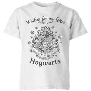 T-Shirt Harry Potter Waiting For My Letter From Hogwarts - Bianco - Bambini