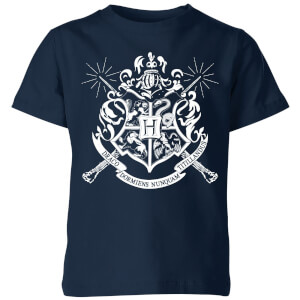 Harry Potter Hogwarts House Crest Kinder T-Shirt - Navy Blau