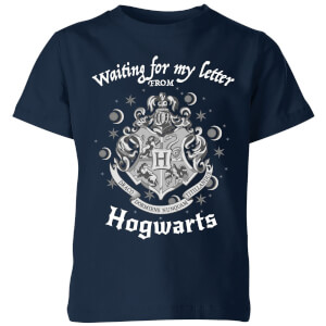 ad2b355c9be Harry Potter Waiting For My Letter From Hogwarts Kids  T-Shirt - Navy