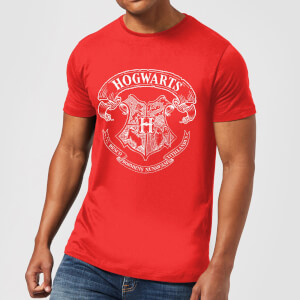 Harry Potter Hogwarts Crest T-shirt - Rood