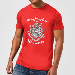 Harry Potter Waiting For My Letter From Hogwarts Men's T-Shirt - Red