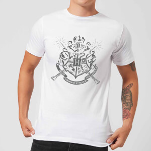 Harry Potter Hogwarts House Crest Herren T-Shirt - Weiß