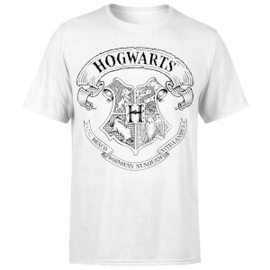 Harry Potter Hogwarts Crest Men's T-Shirt - White