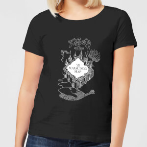 T-Shirt Harry Potter The Marauder's Map - Nero - Donna