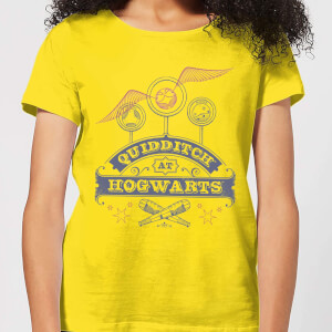 T-Shirt Harry Potter Quidditch At Hogwarts - Yellow - Donna