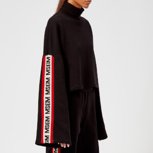MSGM Women's Wide Logo Sleeve Jumper - Black