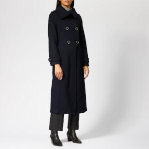 Mackage Women's Elodie Long Wool Coat - Navy