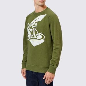 Vivienne Westwood Anglomania Men's Classic Logo Sweatshirt - Green