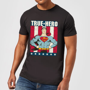 DC Originals Superman True Hero Herren T-Shirt - Schwarz