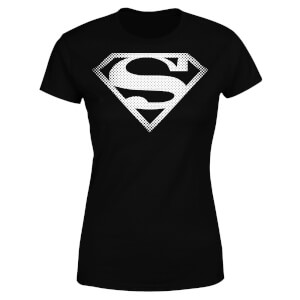DC Originals Superman Spot Logo Dames T-shirt - Zwart