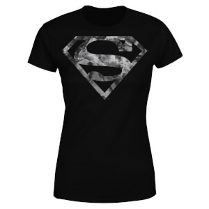 DC Originals Marble Superman Logo Dames T-shirt - Zwart