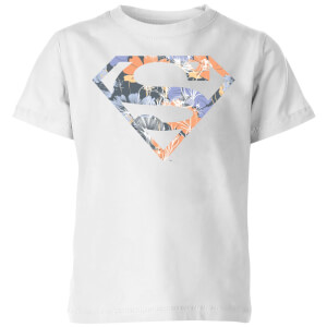 DC Originals Floral Superman Kids' T-Shirt - White