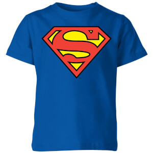 DC Originals Official Superman Shield Kinder T-shirt - Blauw