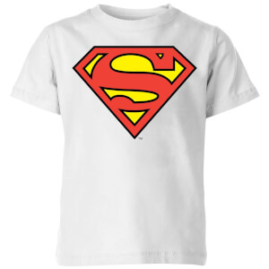 DC Originals Official Superman Shield Kinder T-shirt - Wit