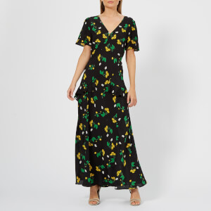 RIXO Women's Evie Dress - Bunched Daisy