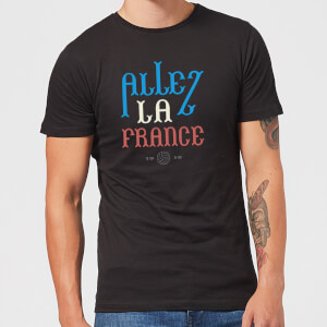 T-Shirt Homme Allez La France Football - Noir