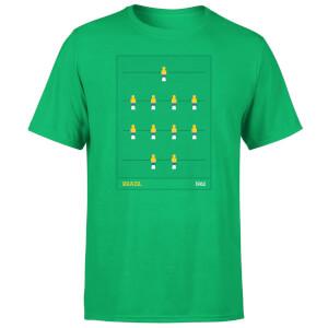 Brazil Fooseball Men's T-Shirt - Kelly Green