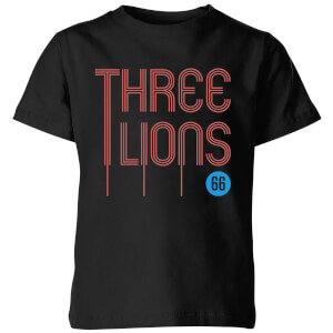 Three Lions Kids' T-Shirt - Black